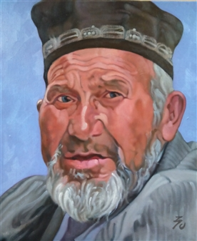 """A Life in Samarkand Oil on Canvas 18"""" x 15"""""""