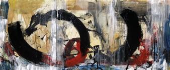 "Passage II Acrylic & Ink on Canvas 30"" x 72"""