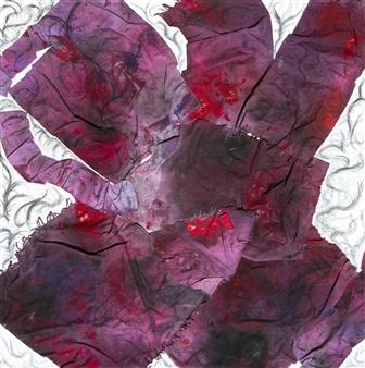 "Untitled 7 Acrylic & Mixed Media on Canvas 39.5"" x 39.5"""