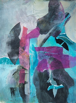 """Journey Acrylic & Collage on Canvas 20"""" x 16"""""""