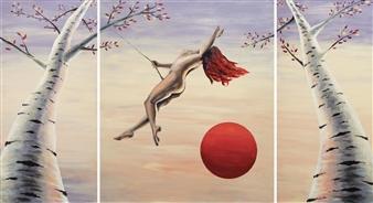 """Still, Like Air, I Rise Acrylic on Canvas 42"""" x 78"""""""