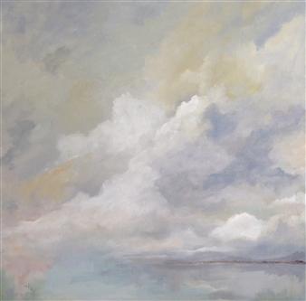 """Fog Oil on Canvas 21"""" x 21"""""""