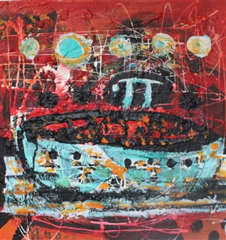 """The Great Journey of Me with Pi Acrylic on Canvas 19.5"""" x 19.5"""""""