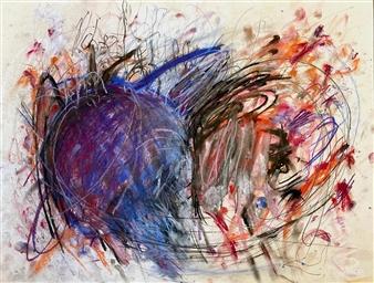 "Tangle  (Study) Pastel on Paper 18"" x 24"""
