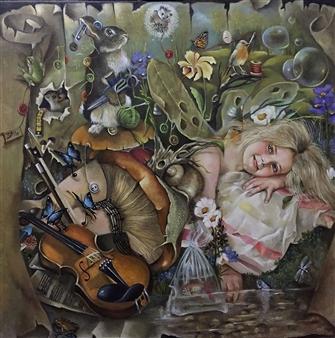"Dreams Oil on Canvas 31.5"" x 31.5"""