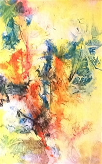 """Jungle Fun Ink on Clayboard 36"""" x 24"""""""