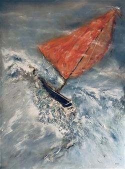 "Intrepid Oil on Canvas 48"" x 36"""