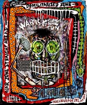 """Warmonger Acrylic on Canvas 24"""" x 20"""""""