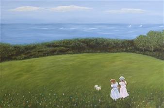 "Sisters Acrylic on Canvas 24"" x 36"""