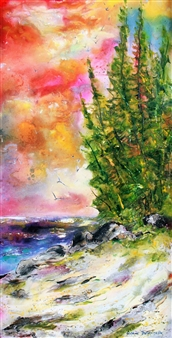 My Secret Beach with Sky Trees
