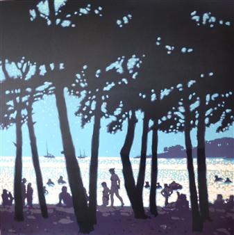 """Mediterranean Sparkles Acrylic on Canvas 40"""" x 40"""""""