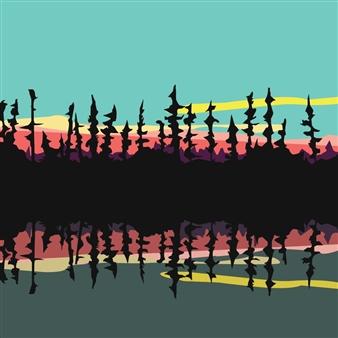 "The James Bay Wilderness Digital Print on Paper 18"" x 18"""