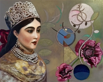 """Young Princess Moldave Oil on Canvas 29"""" x 36.5"""""""