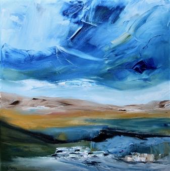 "Landscape #2 Oil on Canvas 24"" x 24"""