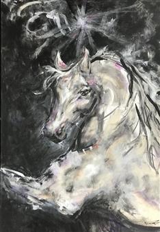 """I am Star Dust Acrylic on Canvas 36"""" x 24"""""""