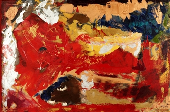"""Tangled Up In Red Oil & Acrylic on Canvas 36"""" x 54.5"""""""