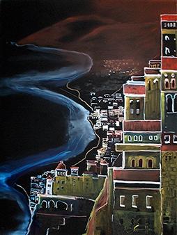 """Atrani on the Amalfi Coast Oil on Canvas 40"""" x 30"""""""