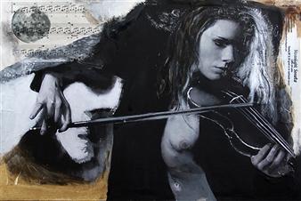 """Moonlight Sonata Mixed Media on Canvas 15.5"""" x 23.5"""""""
