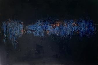 "Untitled Acrylic & Mixed Media on Canvas 20"" x 30"""