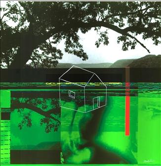 "interior landscape Mixed Media on Aluminum 23.6"" x 23.6"""