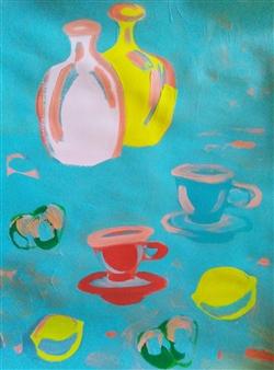 "Still Life No. 498 Acrylic on Paper 24"" x 18"""