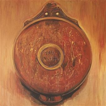 """Plato Reverso"" Acrylic on Canvas 39.5"" x 39.5"""