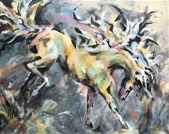 """Spring Dance Acrylic on Canvas 24"""" x 30"""""""