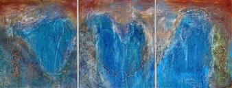 "Brilliant Bridges, triptych Acrylic & Oil on Canvas 60"" x 144"""