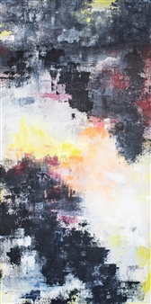 "Morning Temple Acrylic on Canvas 36"" x 18"""