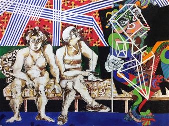 Two Circus Figures And Friend 123A