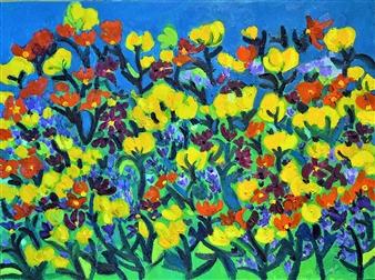 "Flowers Oil on Canvas 18"" x 24"""