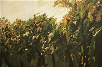 "Botanical Garden Oil on Canvas 39.5"" x 59.5"""