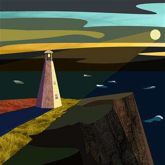 """Cape Spear Digital Print on Fine Art Paper 12"""" x 12"""""""