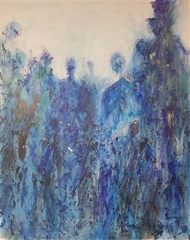 "Isles 2020-02 Acrylic on Canvas 36"" x 29"""