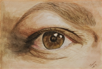"""The Eye of Wisdom Watercolor on Paper 8.5"""" x 12"""""""