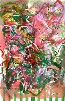 """Intuitive Nature Acrylic on Canvas 59"""" x 39.5"""""""
