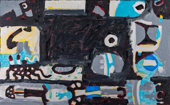 """Untitled 9 Acrylic on Board 31.5"""" x 51"""""""