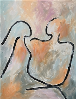 """Lovers Oil on Canvas 42.5"""" x 32.5"""""""