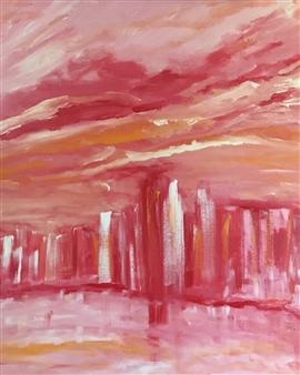 "Sunset Acrylic on Canvas 24"" x 20"""