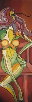 """Waiting Oil & Acrylic on Canvas 79"""" x 24.5"""""""