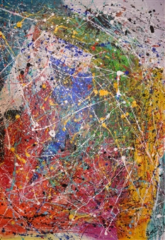 """Jour de Colére Acrylic on Canvas 59"""" x 45"""""""