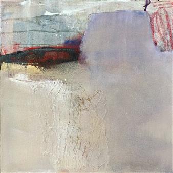 "Untitled 6 Acrylic & Mixed Media on Canvas 15.5"" x 15.5"""