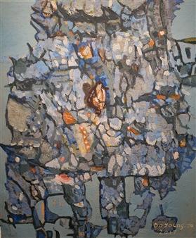 "Knar Forest With Heart Soil on Canvas 21"" x 17.5"""