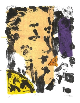 """Girl Stone lithography 13"""" x 10"""""""