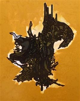 """Omnious Omen Pen on Canvas 39.5"""" x 31.5"""""""