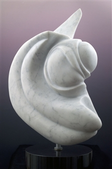 """Ode to Russ Marble 29"""" x 19"""" x 9"""""""