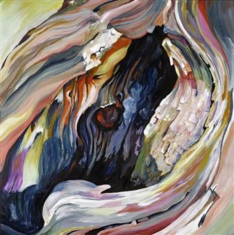 "Goddess Within Acrylic on Canvas 24.5"" x 24.5"""