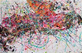 """Jour de Repos Acrylic on Canvas 49.5"""" x 69.5"""""""