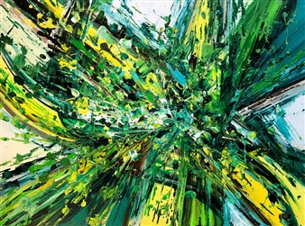 "Splatter Abstraction III Acrylic on Canvas 30"" x 40"""