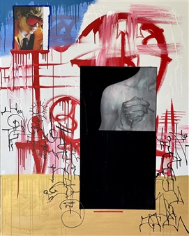 """It's Not for Everyone Mixed Media on Canvas 60"""" x 48"""""""